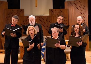 the community choir singing